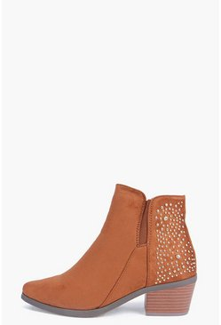 Amber Studded Back Boot
