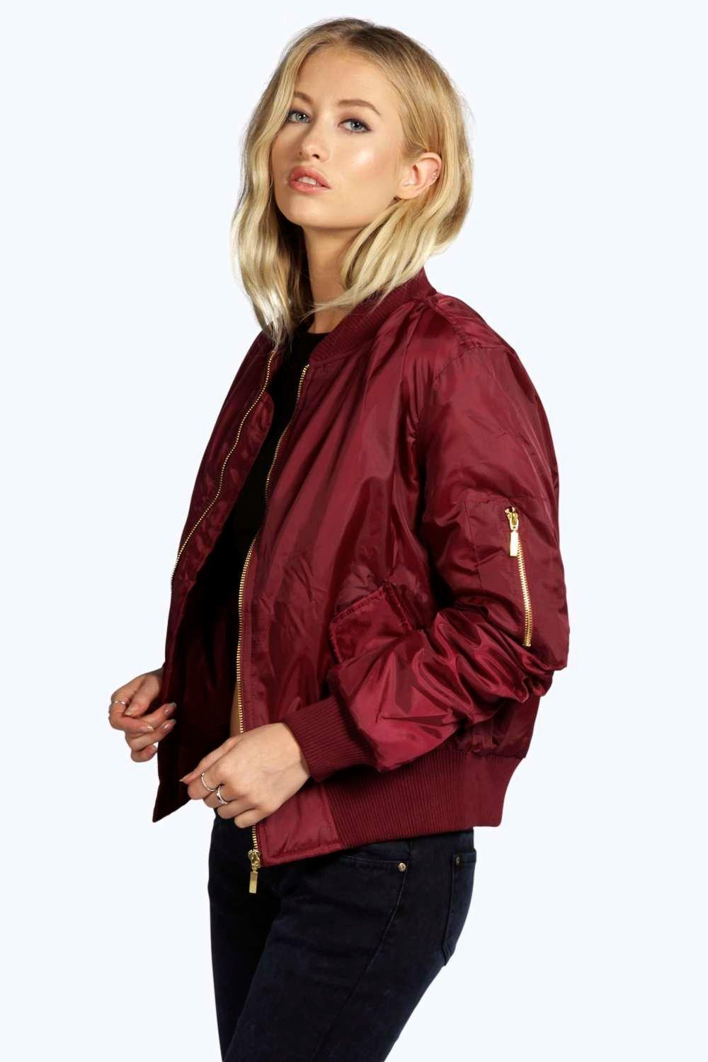 MA1 Bomber Jacket wine