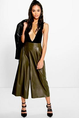 Boutique Lila Leather Look Culotte