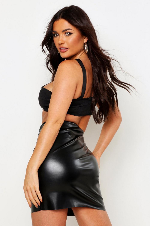 Sofie Leather Look Mini Skirt