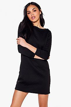 Gabriella Long Sleeve Oversized Shift Dress