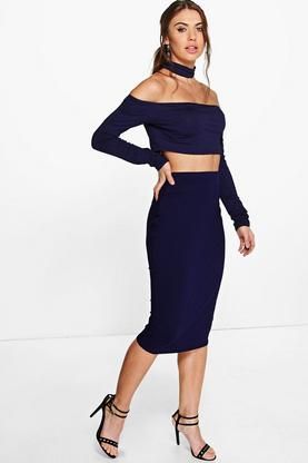 Ara Off The Shoulder Top Mini Skirt Co-Ord Set