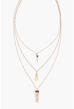Zoe Layered Crystal Skinny Necklace