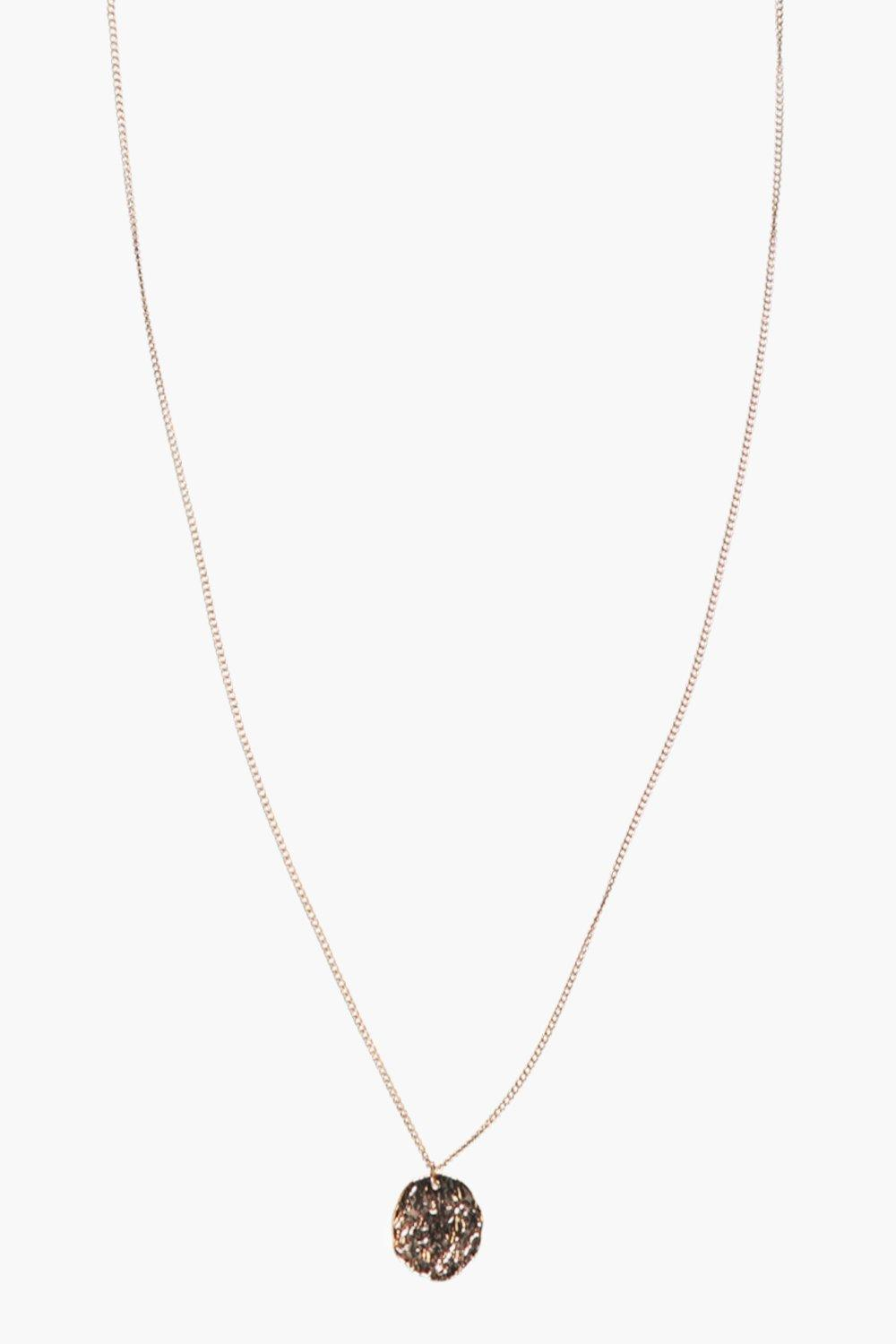 Amy Hammered Coin Skinny Necklace