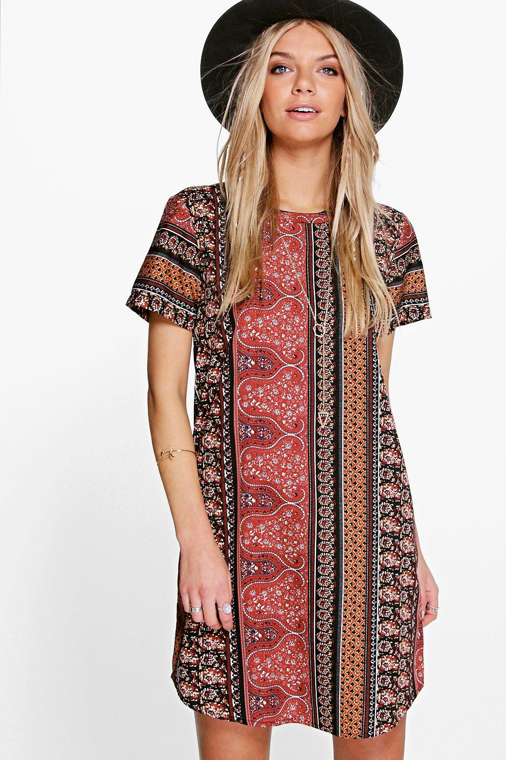 Katherine Paisley Shift Dress