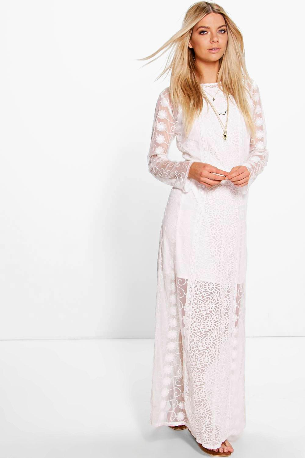 Boutique Sarah Crochet Panel Maxi Dress