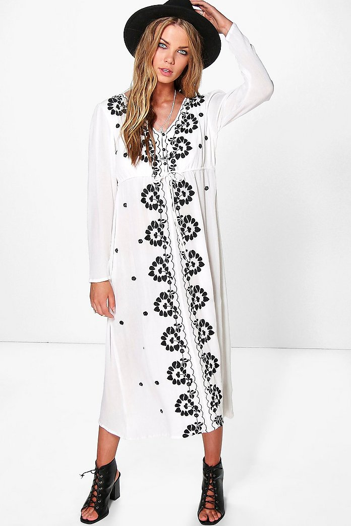 Georgia Embroidered Midi Dress
