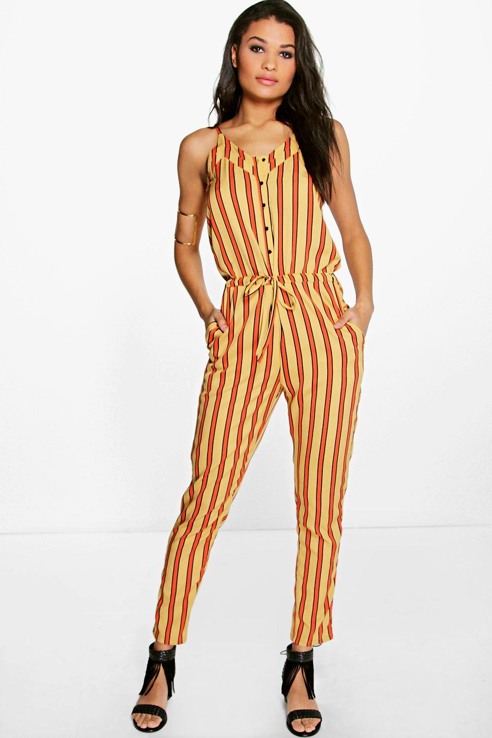 Sally Striped Woven Jumpsuit