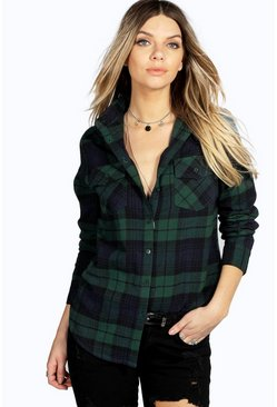 Sophie Brushed Large Checked Shirt