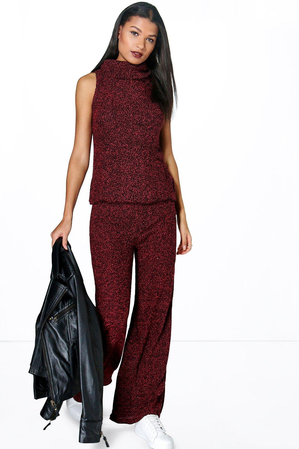 Roxie Roll Neck Jumper & Flares Knitted Co-ord