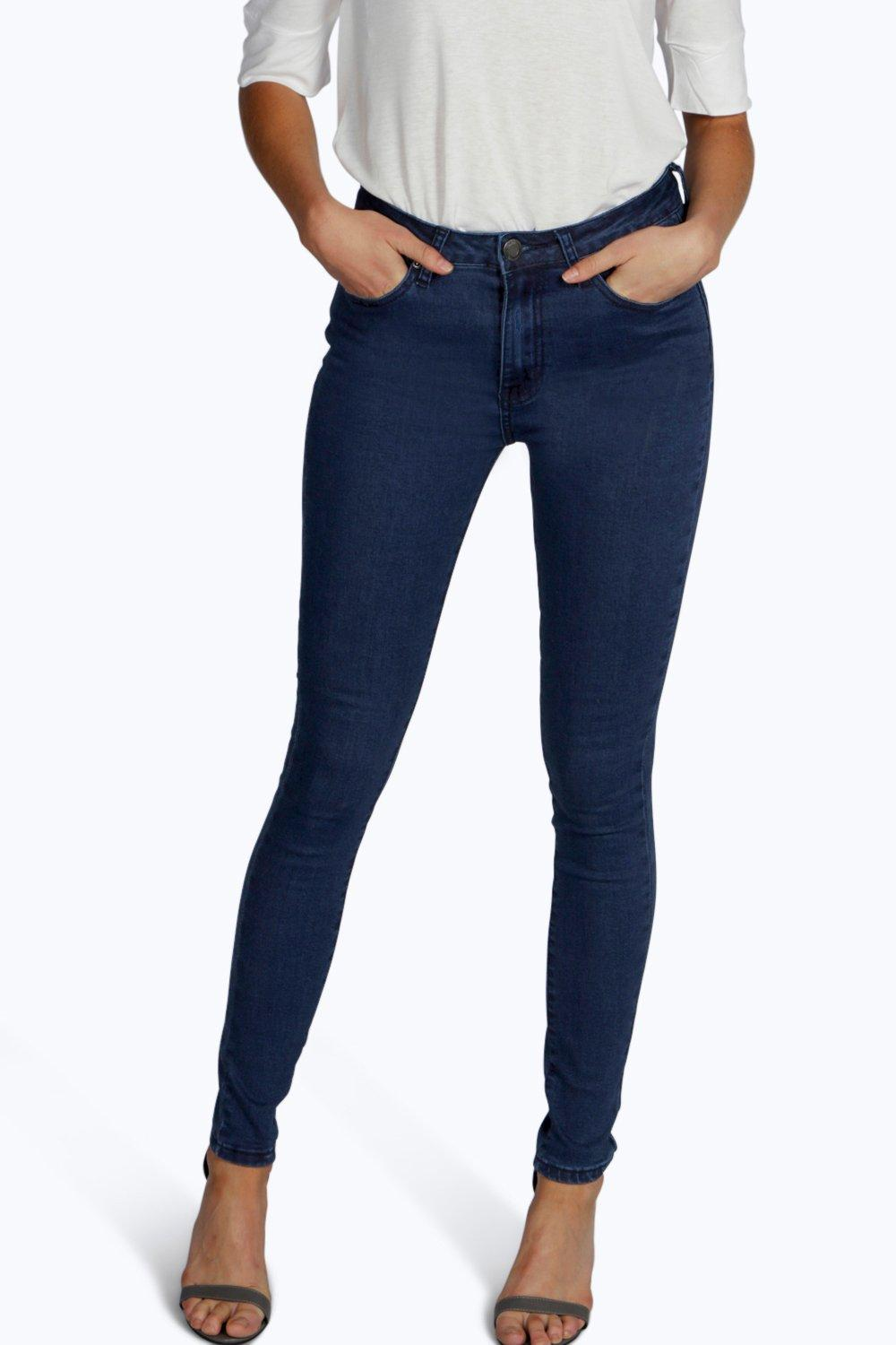 Morgan 5 Pkt High Rise Clean Skinny Jeans blue