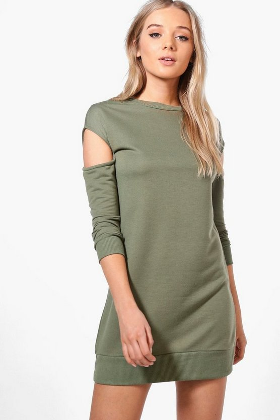 Nadine Cut Out Shoulder Sweat Dress