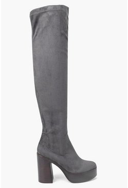 Anna 70's Platform Over The Knee Boot