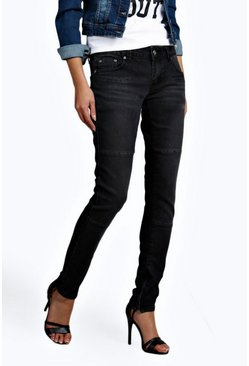 Eve Low Rise Panelled Pocket Detail Skinny Jeans
