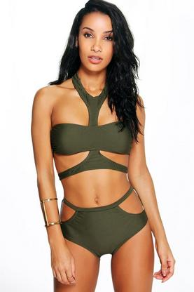Italy Boutique Harness Strap Cut Out Bikini