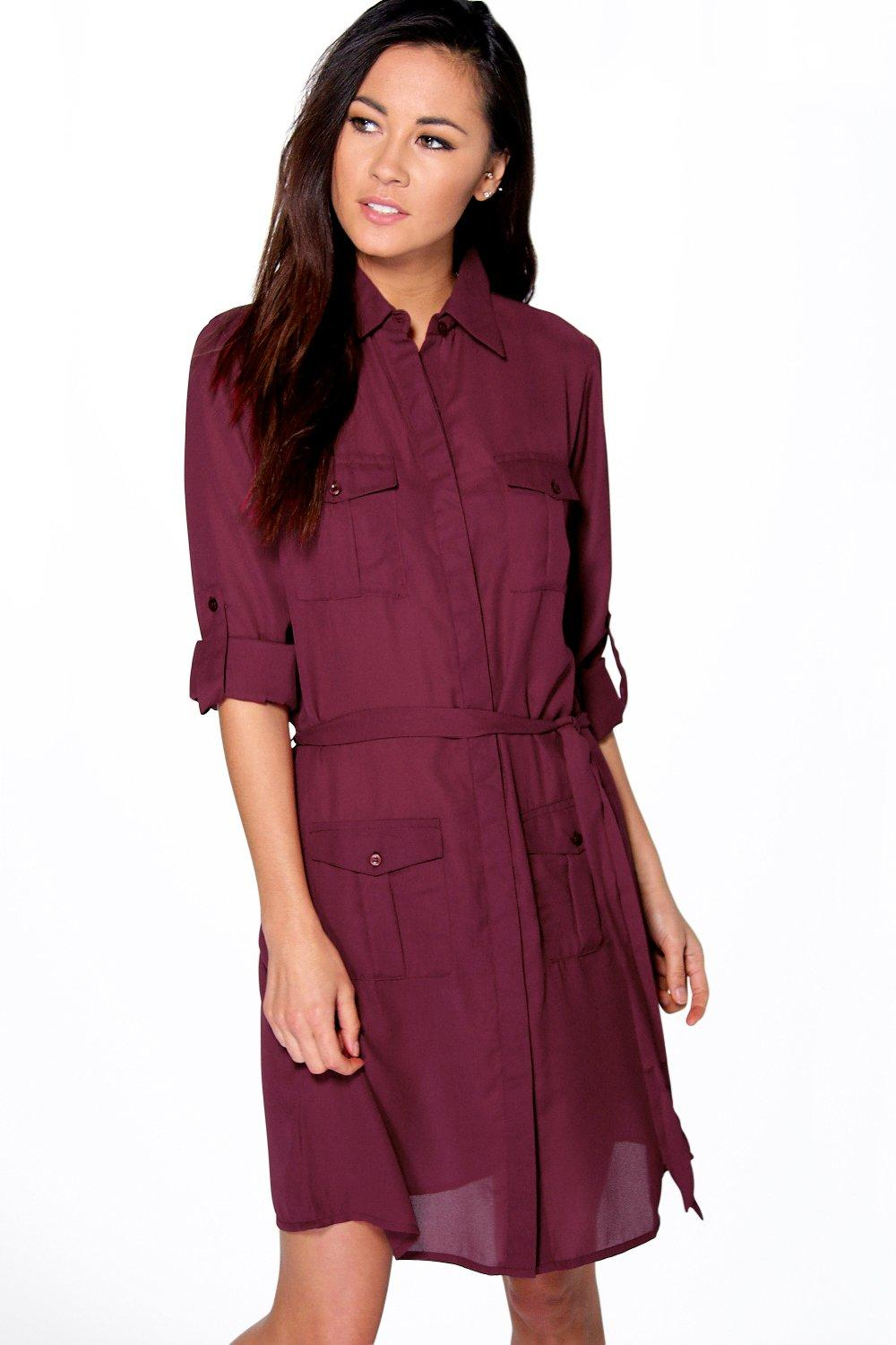 Sasha Utility Shirt Dress