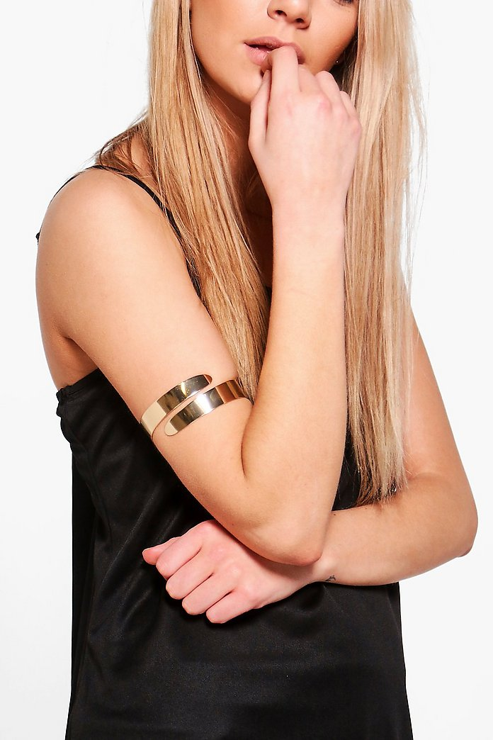 Lauren Swirl Curved Arm Cuff