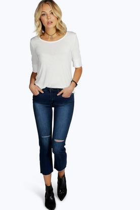 Aurora Cropped Frayed Edge Jeans