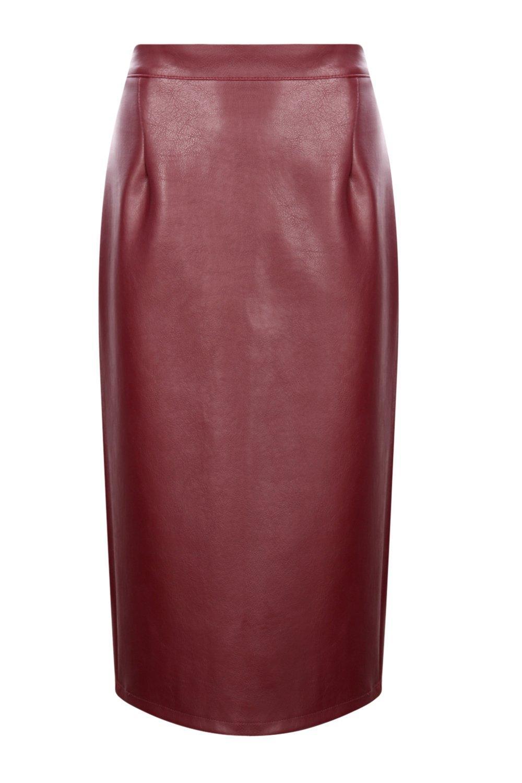 boohoo womens leather look midi skirt ebay