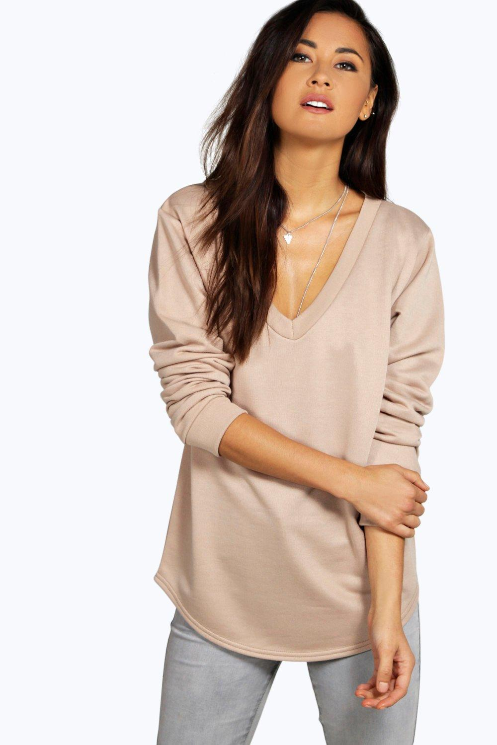 Rebecca V Neck L/S Sweat Top