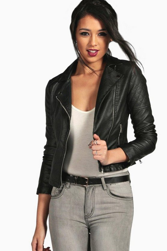 Torah Vegan Leather Biker Jacket