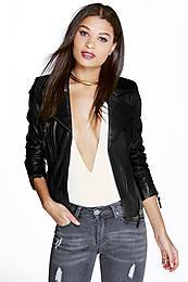 Rea Leather Jacket black