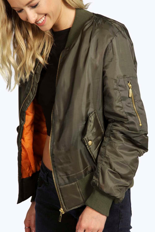 Lillie MA1 Bomber Jacket at boohoo.com