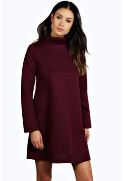 Allie Oversized Knitted A-Line Shift Dress