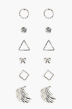 Vanessa Mixed Shapes 6 Earring Pack