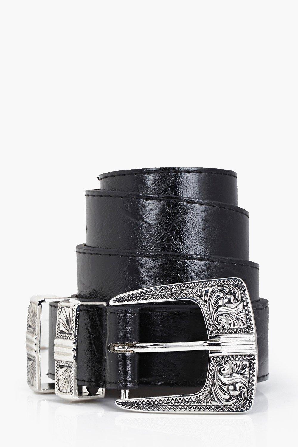 Metal Tipped Western Belt - black - Customise your