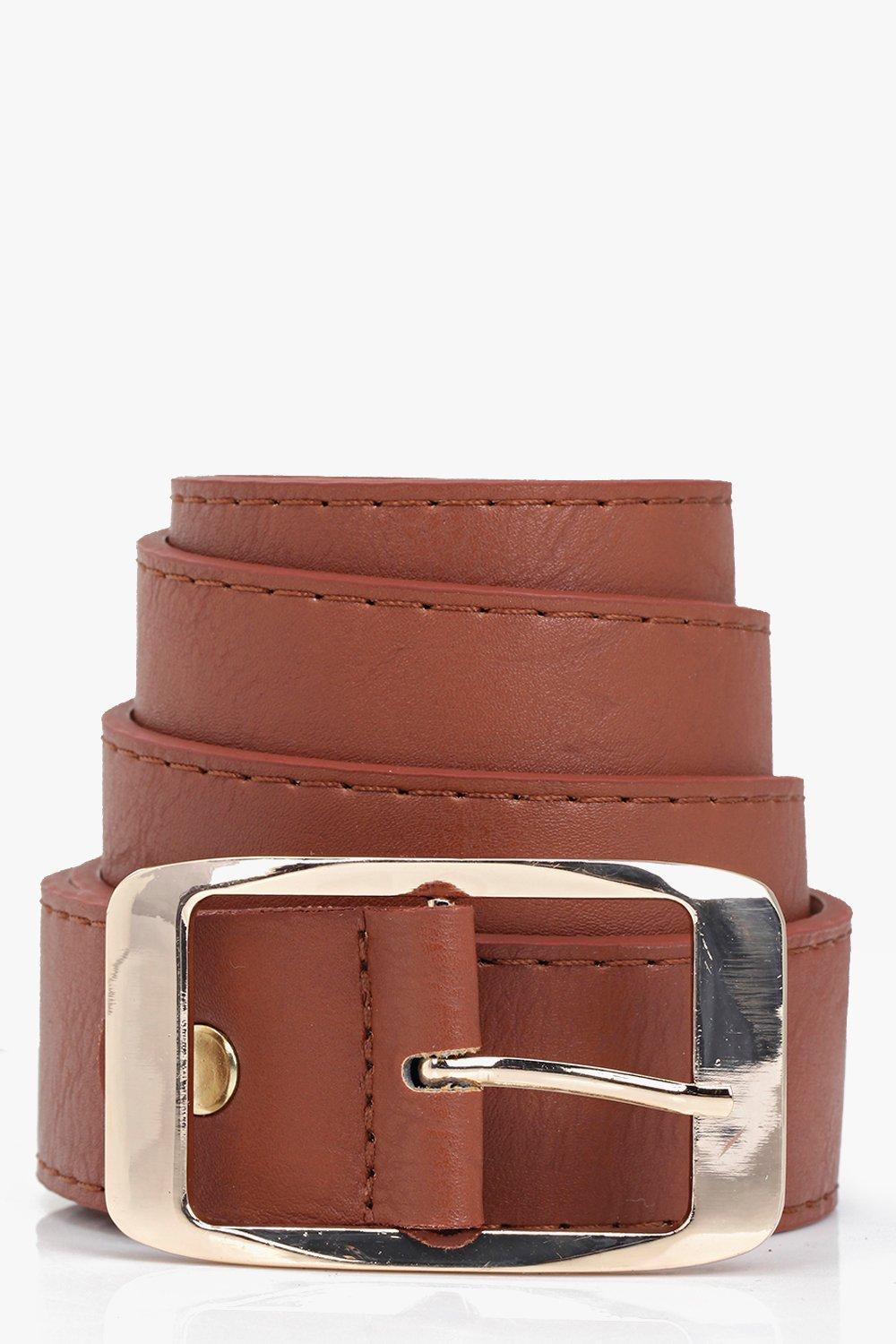 Chunky Boyfriend Belt - tan - Customise your outfi