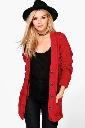 Julia Cable Pocket Cardigan