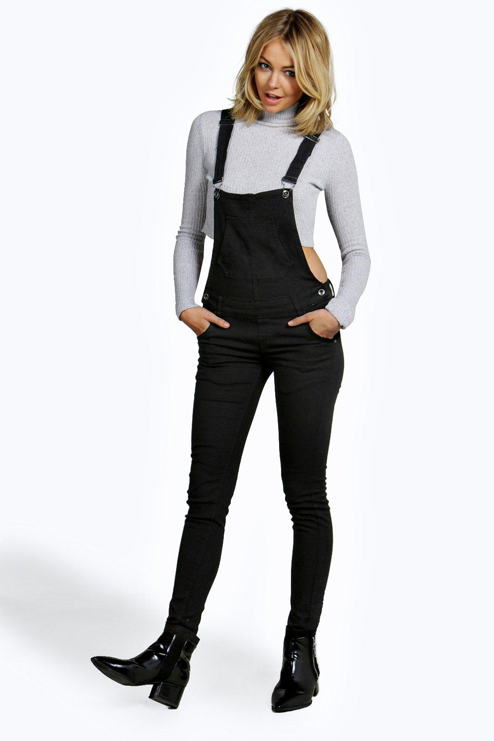 Suzie Black Denim Dungaree