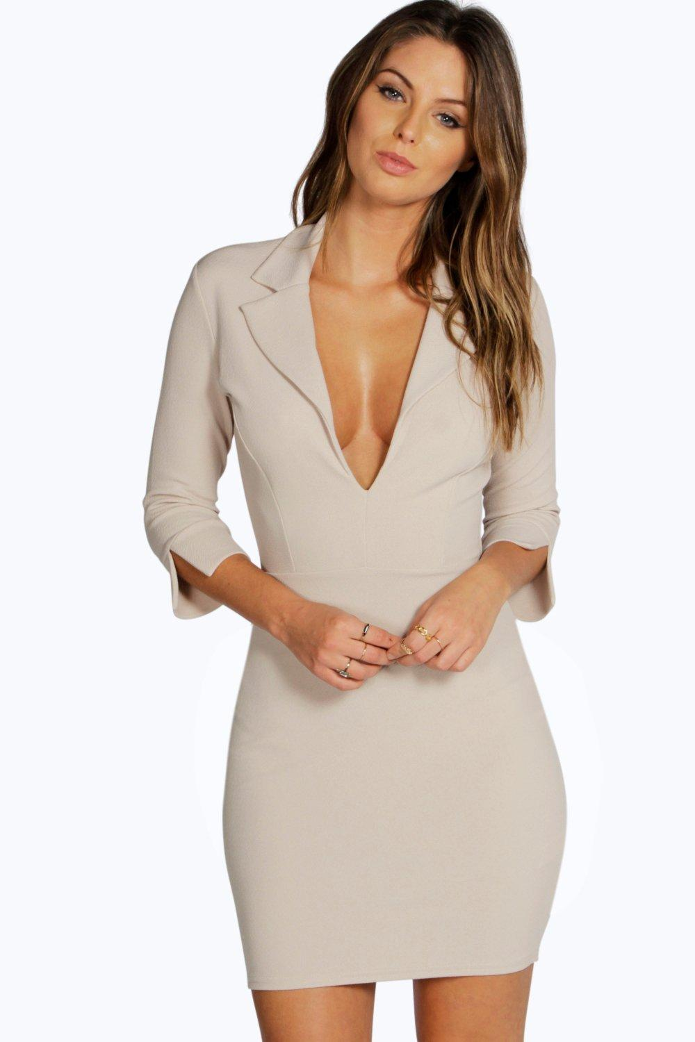 Isabel Collar Detail Bodycon Dress