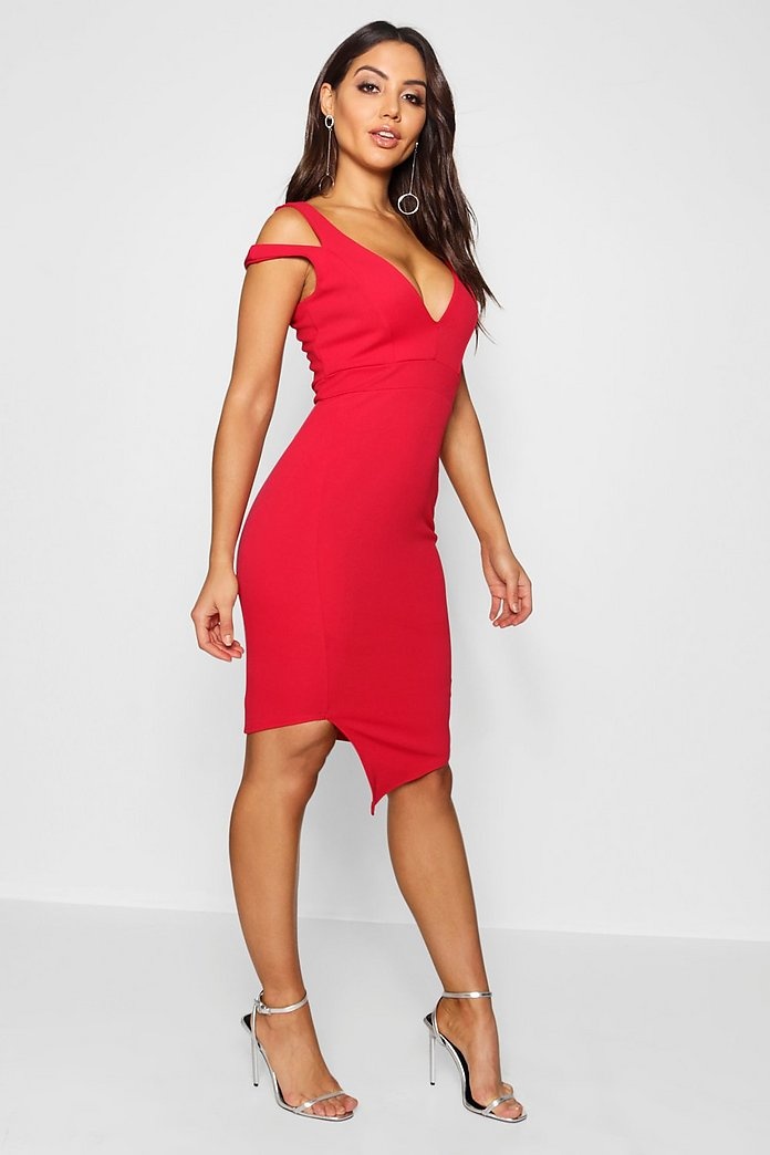 Serena Cut Out Asymmetric Bodycon Dress