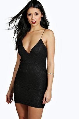 Lara Eyelash Lace Strappy Bodycon Dress