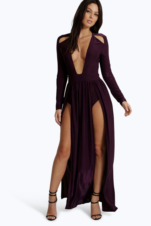 Halter neck maxi dress boohoo uk