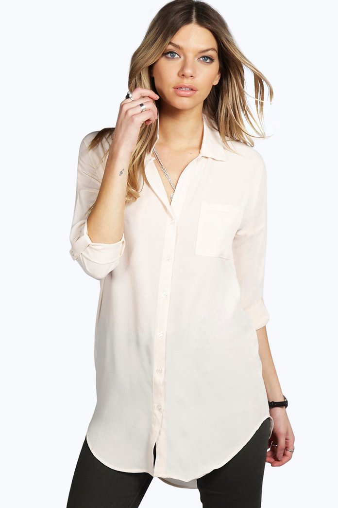 Kirsty Solid Oversized Shirt