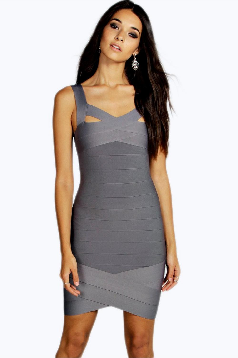 Premium Boutique Arianna Asymmetric Bandage Dress