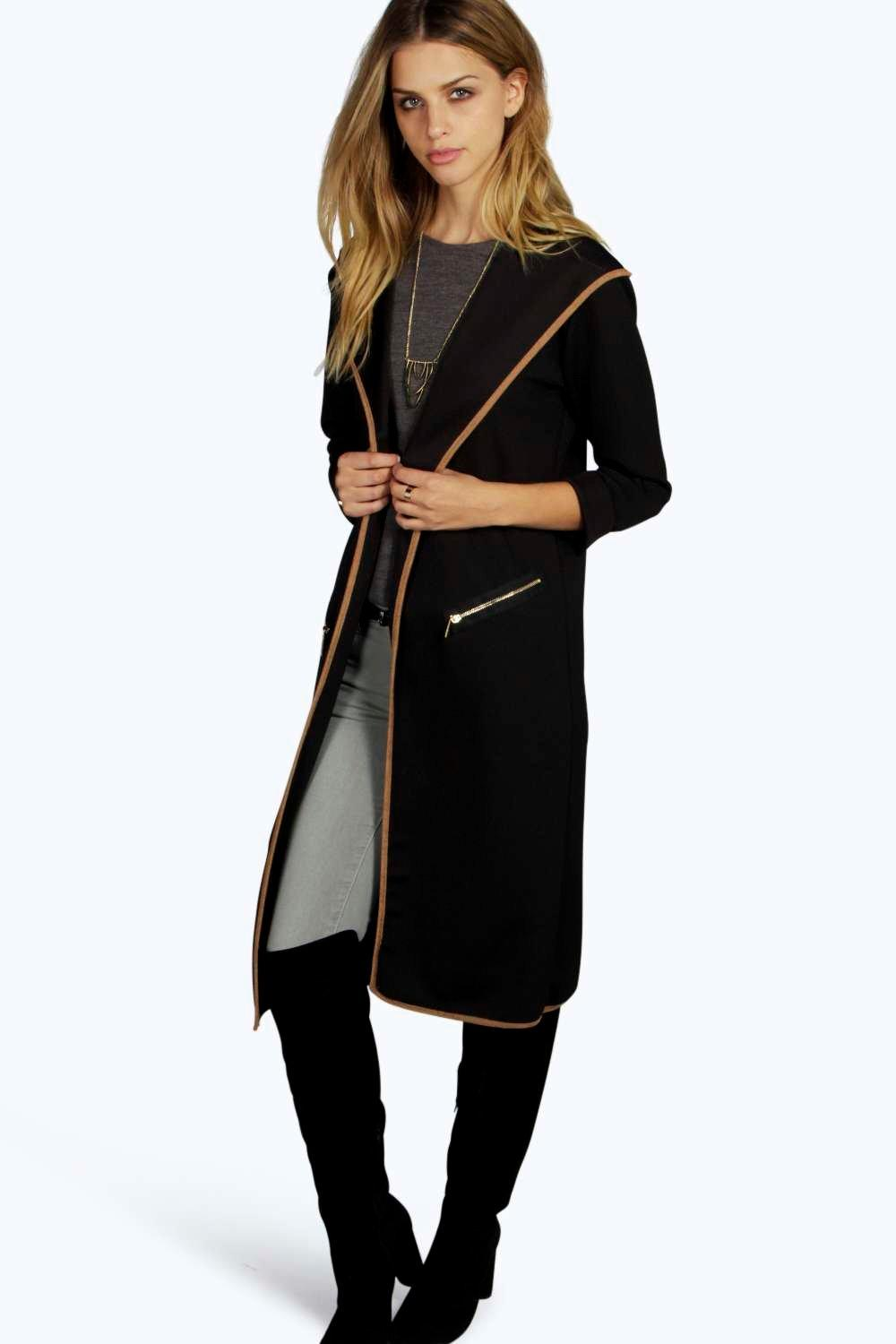 Hooded Maxi Duster black