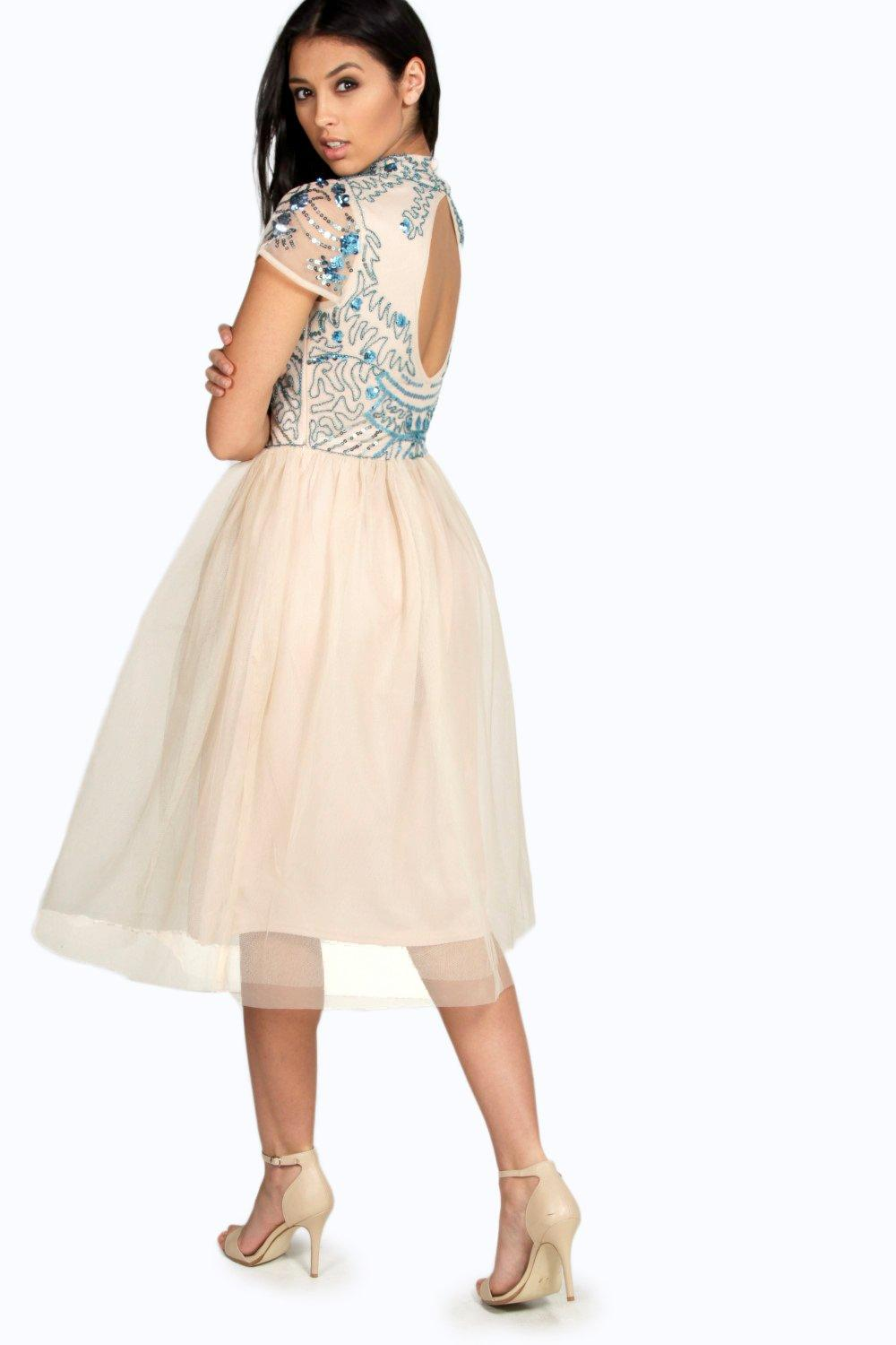 Boohoo womens boutique ely embellished top tutu skirt for Boohoo dresses for weddings