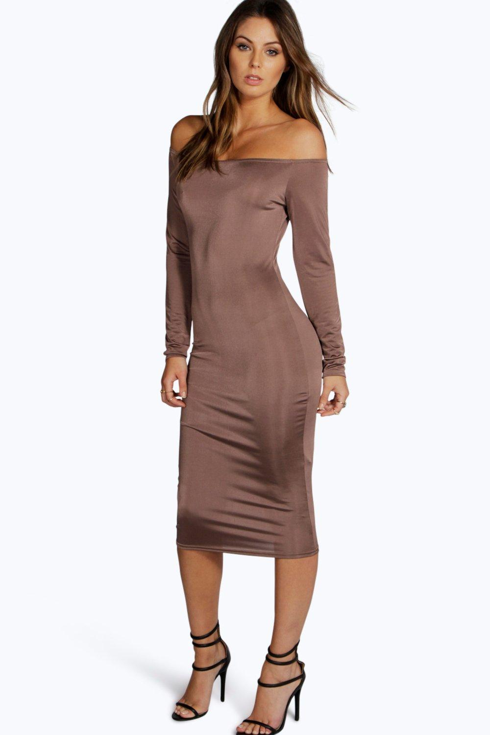 Sarah Slinky Off The Shoulder Bodycon Dress