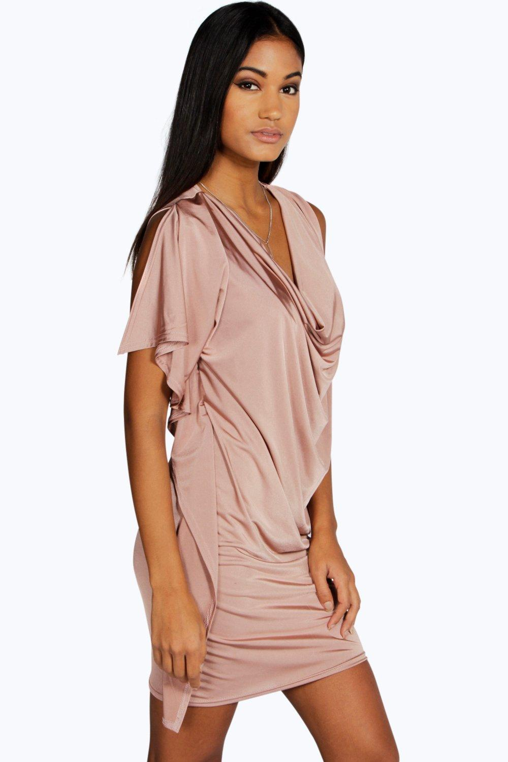 Natasha Slinky Drape Detail Shift Dress