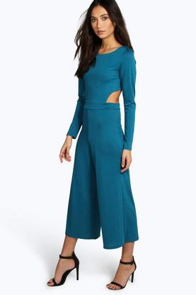 Laura Open Back Culotte Jumpsuit