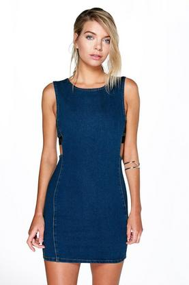Tina Cut Out Denim Dress
