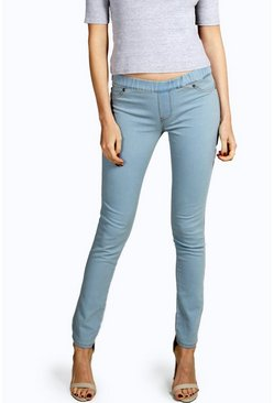 Penny Pull On Blue Wash Jeggings