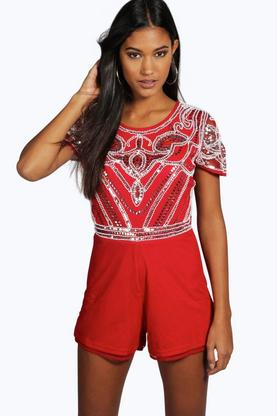 Boutique Ella Heavily Embellished Playsuit