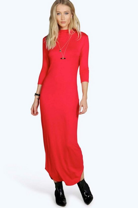 Lydia High Neck Midaxi Dress