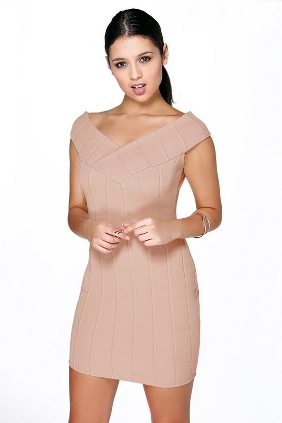Michelle Off The Shoulder Bandage Dress