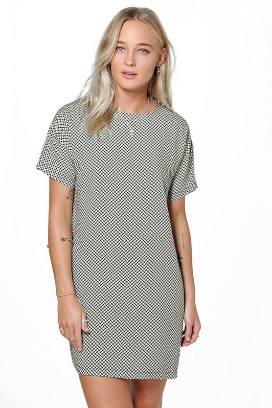 Sabrine Geo Print Shift Dress